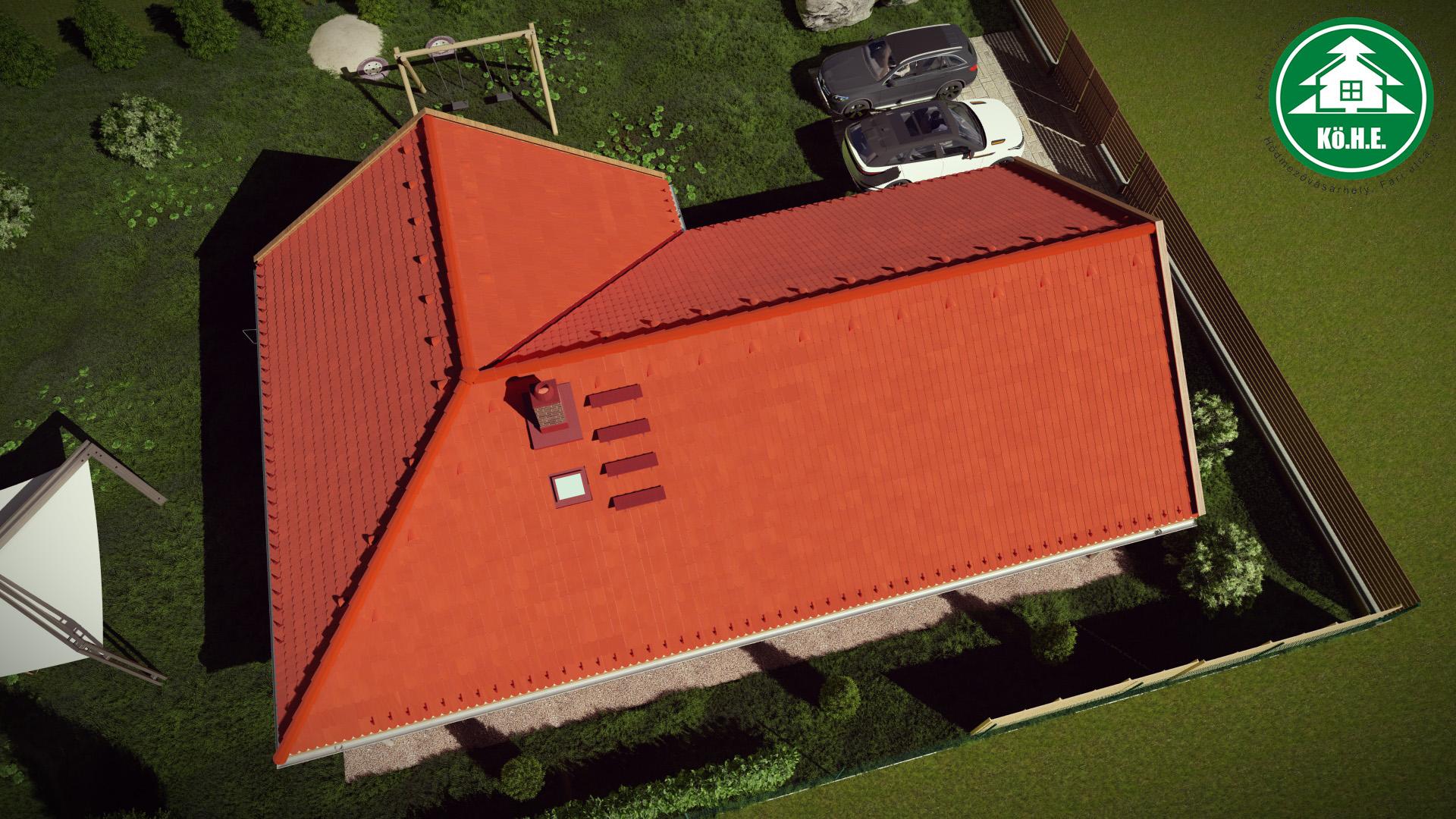 Könnyűszerkezetes ház - L alakú tető