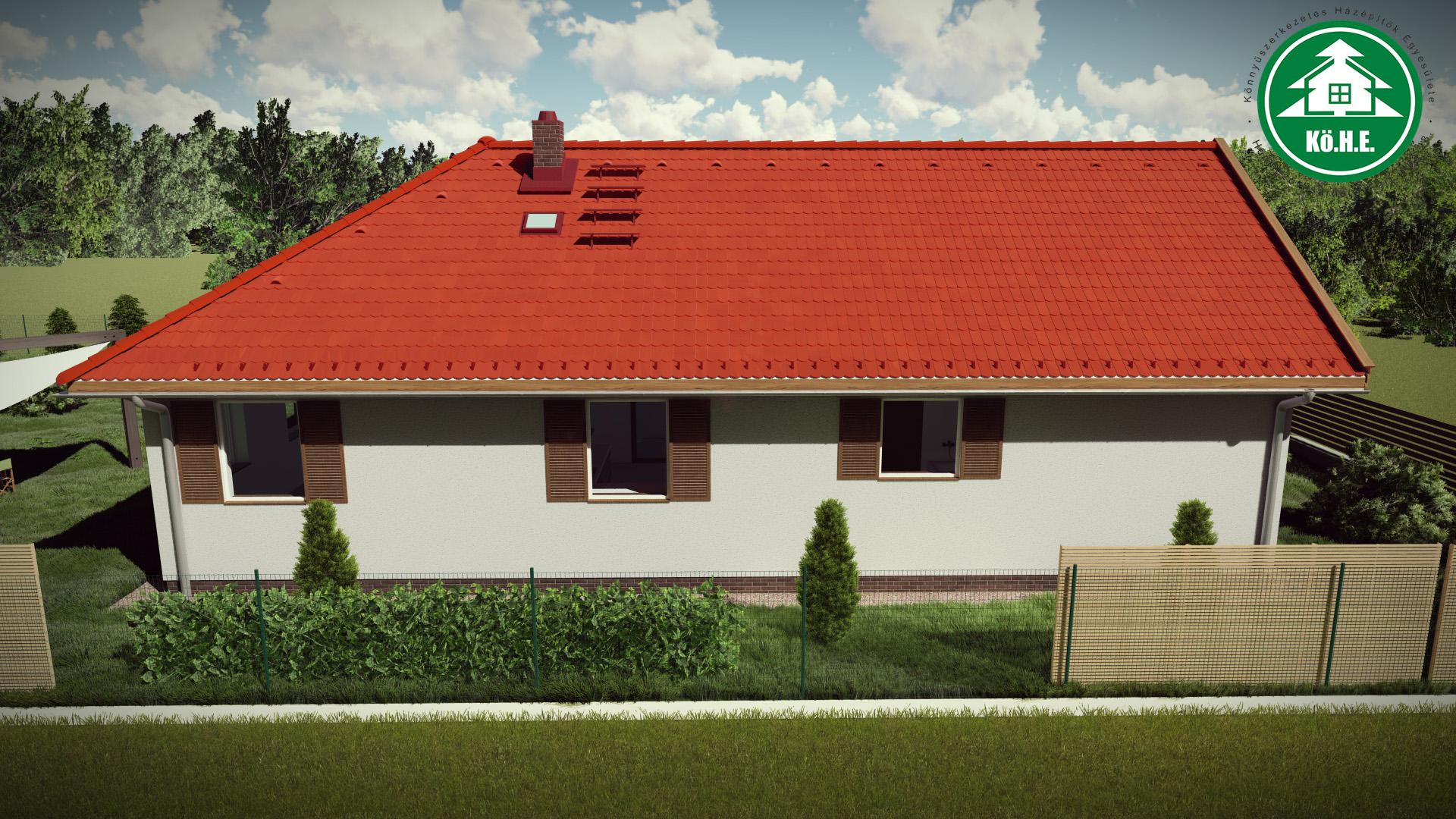 Könnyűszerkezetes ház - Asszimetrikus tető