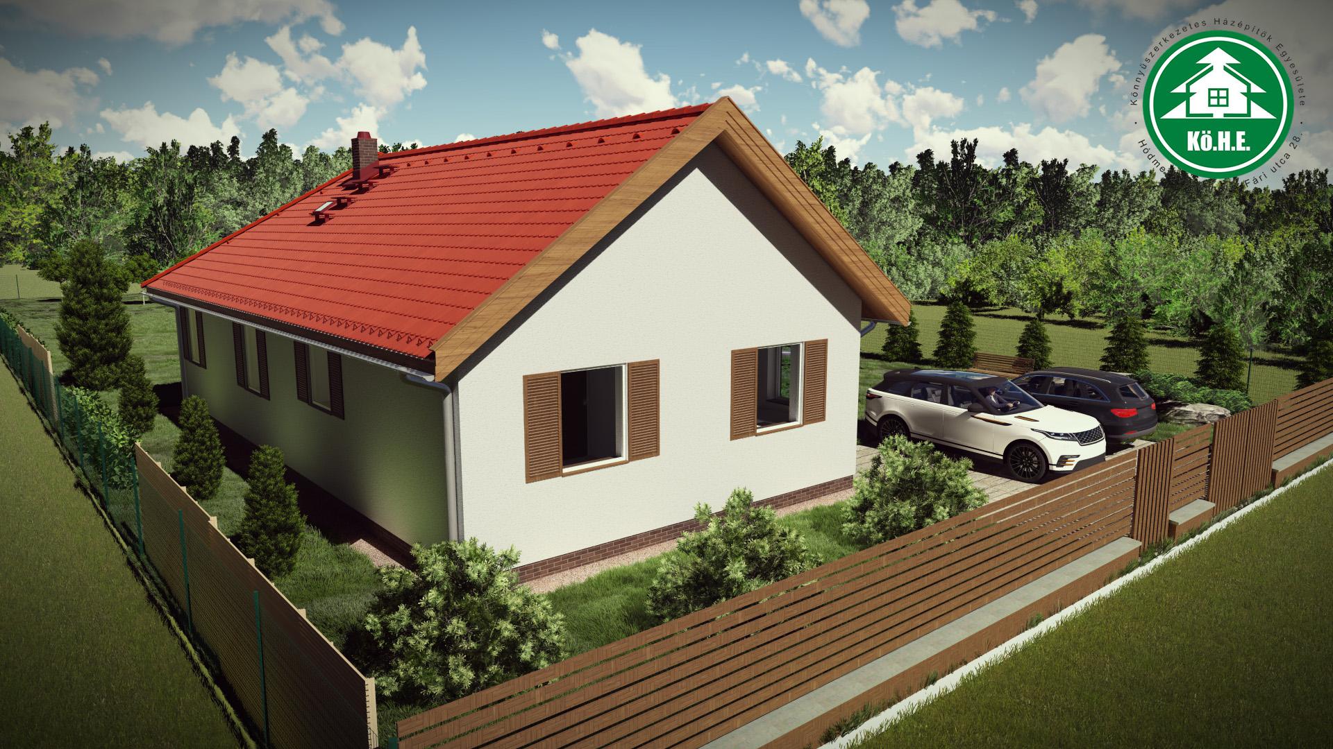 Könnyűszerkezetes ház - Nyeregtető