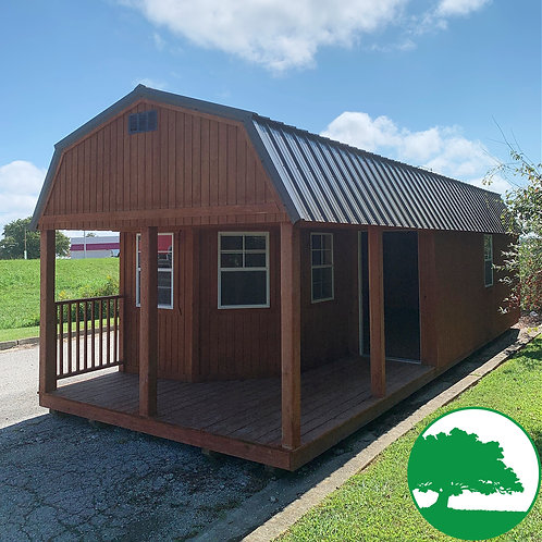 """PRE-OWNED 12'x32' Treated """"Deluxe Lofted Cabin"""""""