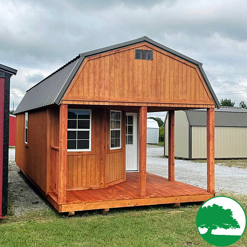 """12' x 28' Treated """"Deluxe Lofted Cabin"""""""
