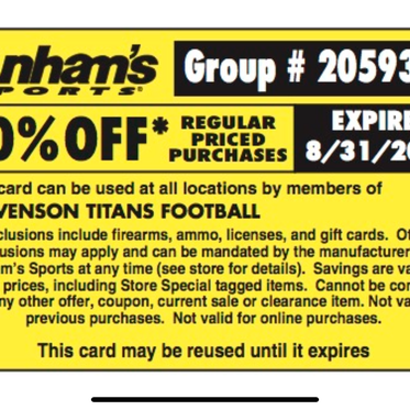 Coupon Specials for our TTC Familes/Friends
