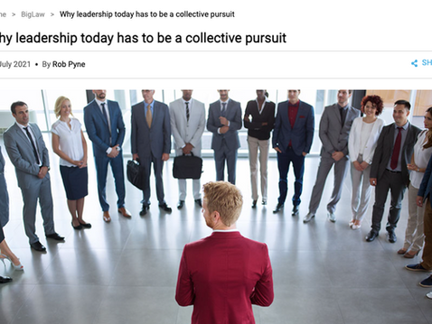 Why leadership today has to be a collective pursuit