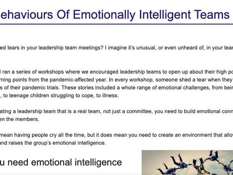The Behaviours Of Emotionally Intelligent Teams