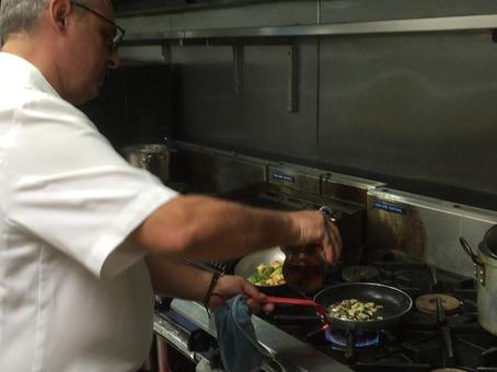 Chef Mauri Preparing One of His Specials