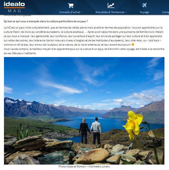 Article Idealo Voyage NZ