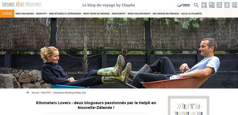 Blog Chapka Interview NZ Helpx