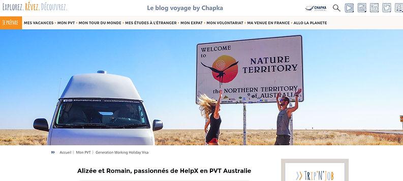 Chapka Interview Australie Helpx