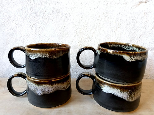 NEW short coffee cup in black