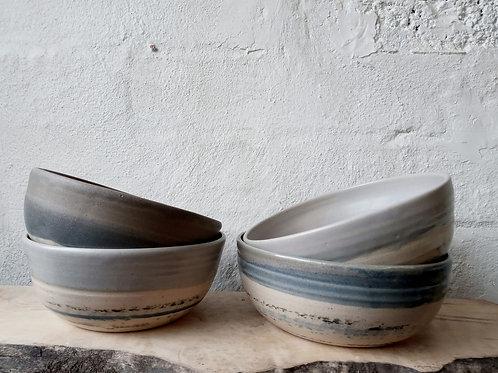 Wide dinner bowls