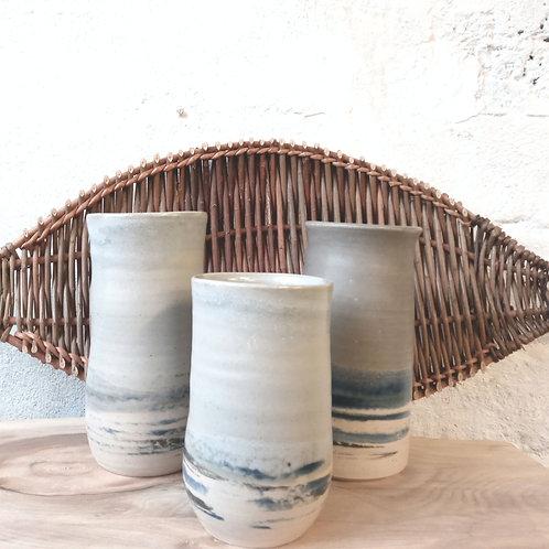 Tall sea & sky vase