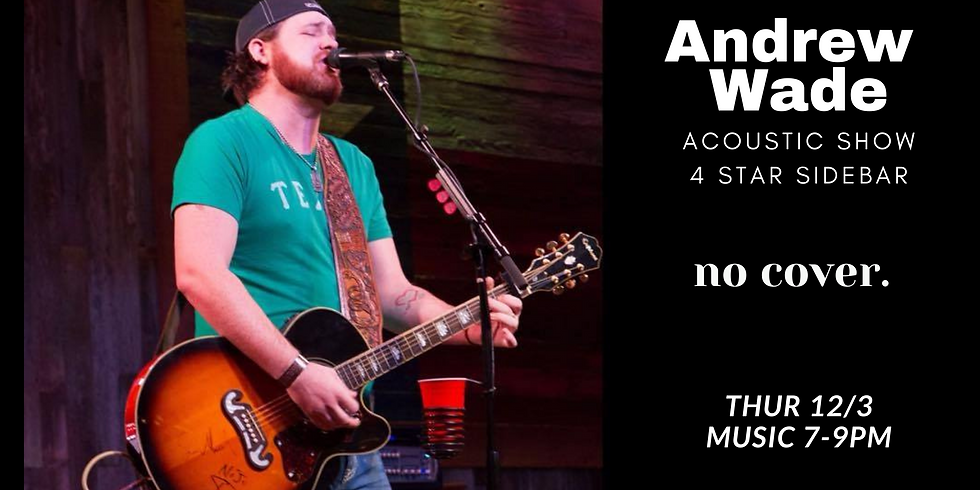 Andrew Wade- No Cover!