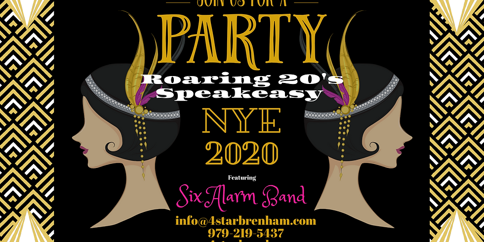 Roaring 20's NYE Party with SIX ALARM BAND