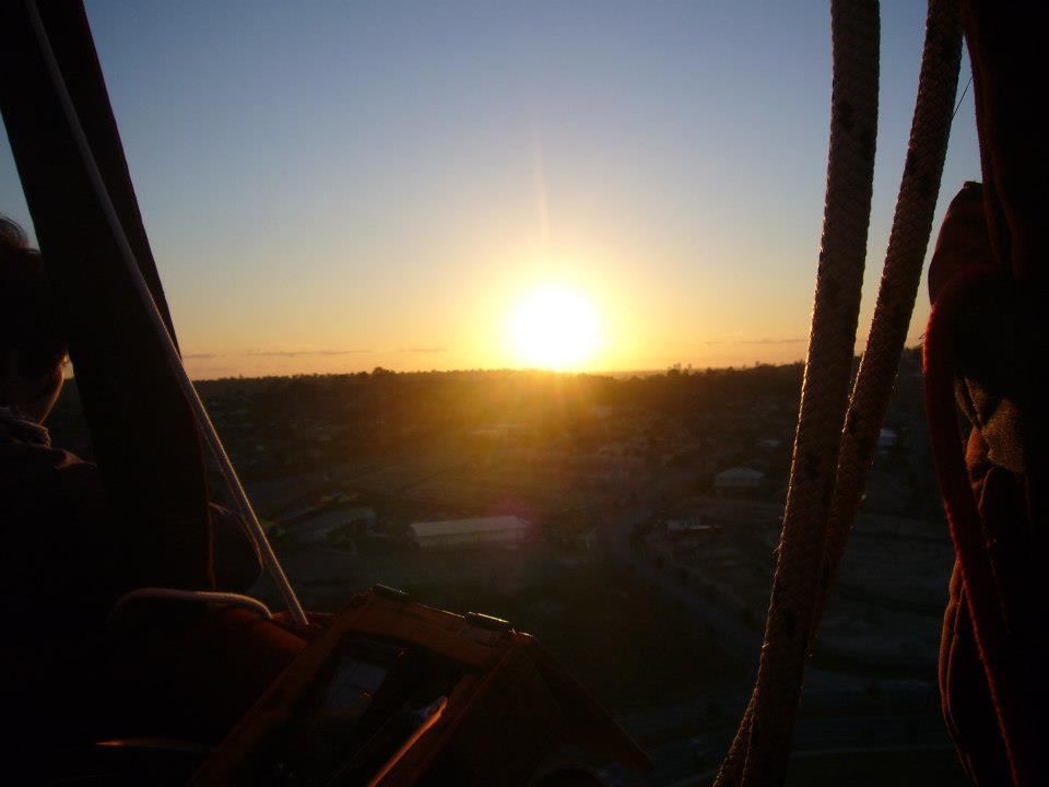 sunrise in the balloon