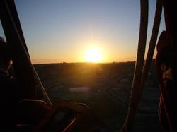 sunrise in the balloon