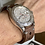 Thumbnail: Really Dark BROWN Leather Racing strap Lt. GRAY stitch