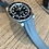 Thumbnail: 20mm Weathered BLUE GRAY  Vulcanized Rubber strap