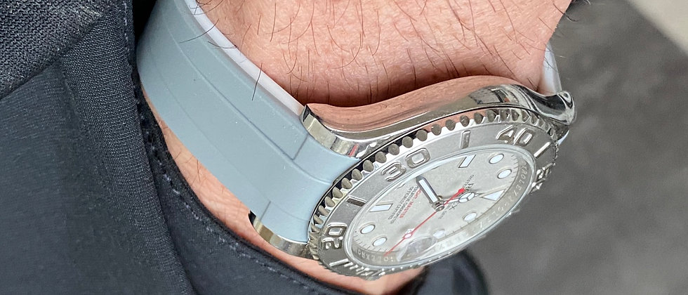 20mm GRAY/WHITE strap for Rolex Yachtmaster