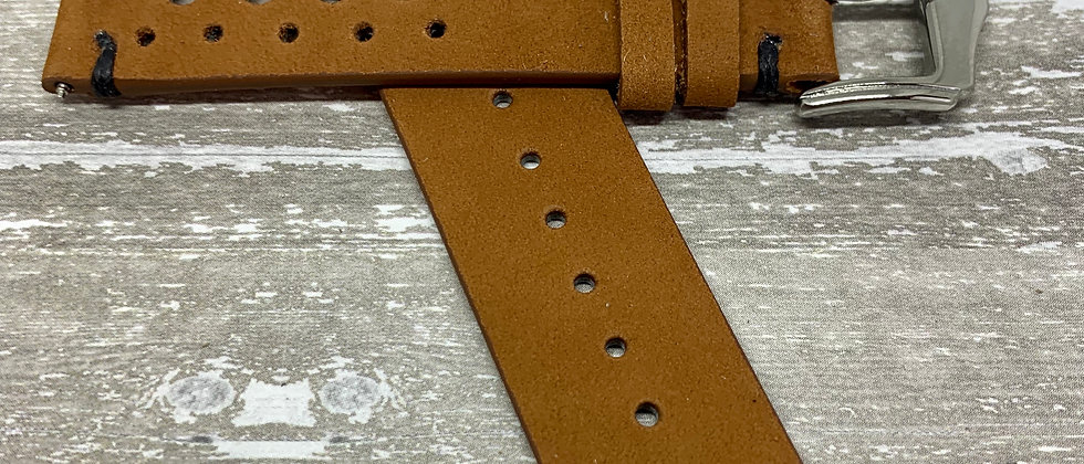 Light Brown Racing Vintage Leather - Hand Made