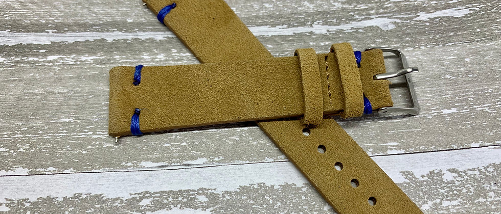 Vintage Suede Leather - Hand Made Light Brown