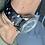 Thumbnail: 20mm BLACK Crazy Horse leather vintage racing strap WHITE Stitch
