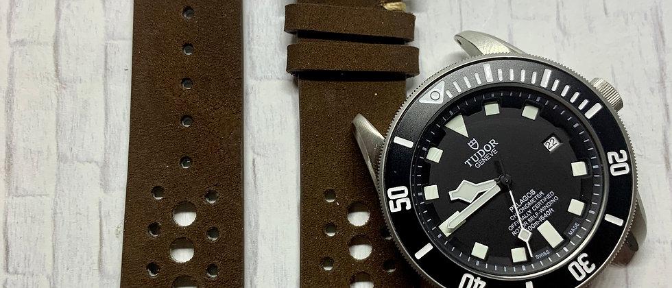 Dark Brown Racing Vintage Leather - Hand Made