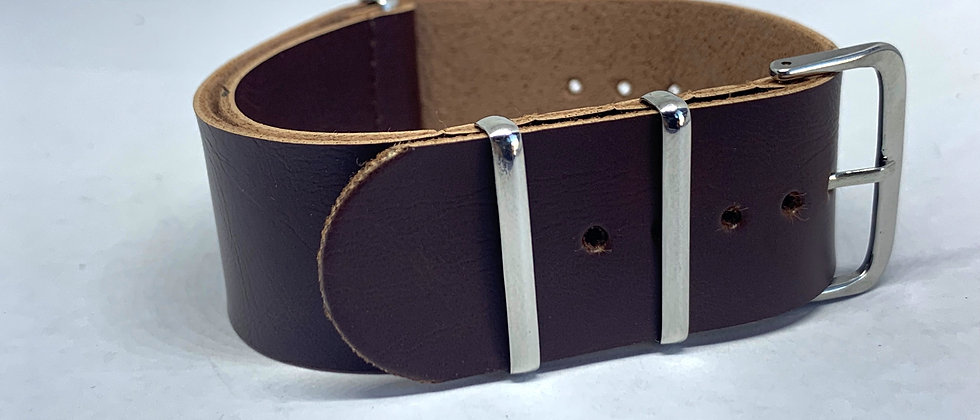 Dark Brown Leather Nato