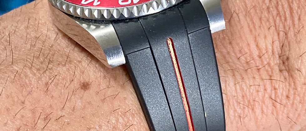 20mm Vulcanized Rubber strap for Rolex watches