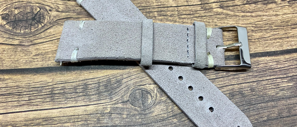 Vintage Suede Leather - Hand Made Gray