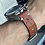 Thumbnail: 20mm BROWN Crazy Horse Vintahe Leather strap WHITE stitch