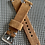 Thumbnail: Thick Light BROWN Suede strap GRAY/SILVER Stitch