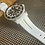 Thumbnail: 22mm WHITE Vulcanized Rubber strap for 43mm Rolex Sea Dweller watches BLACK stri