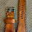 Thumbnail: 24mm Distressed Bell & Ross italian leather strap BLUE open stirch