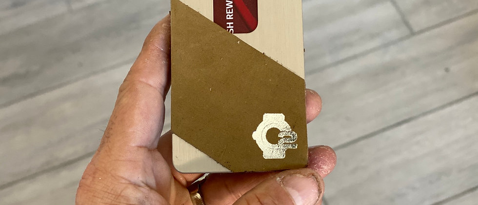 Nubuck top grain leather front pocket wallet