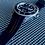 Thumbnail: 22mm BLACK Vulcanized Rubber strap RED stitch