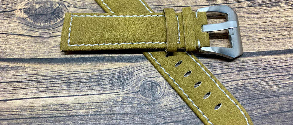 Tan Suede Leather Watch Strap