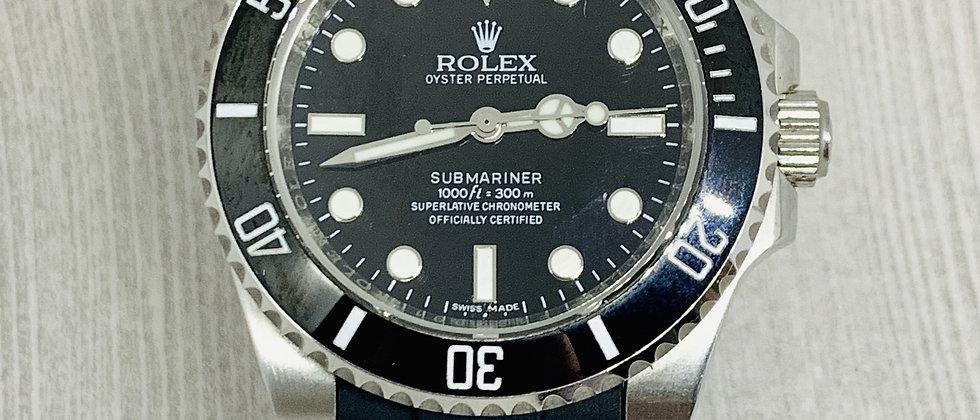 20mm Black Vulcanized Flared Rolex Rubber Strap