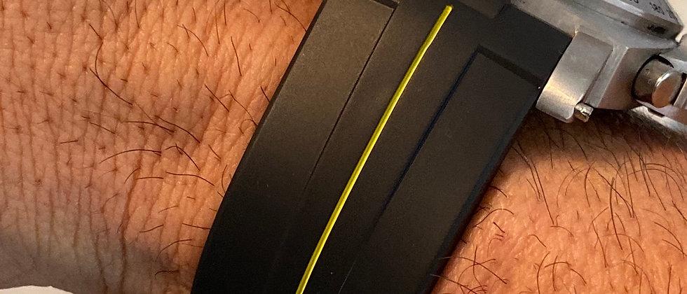 24mm Vulcanized Rubber strap for Panerai Luminor watches