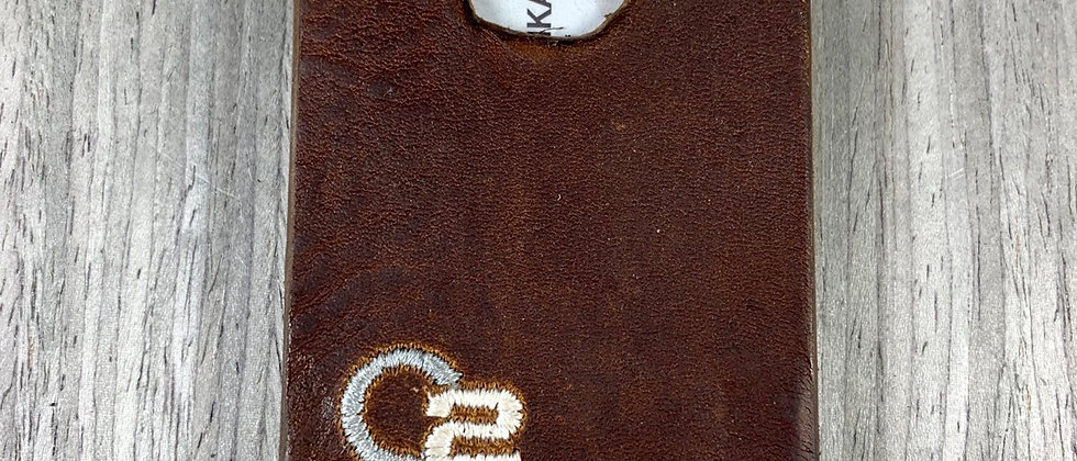 BROWN Italian Calfskin Minimalistic Leather wallet