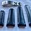 Thumbnail: 20mm BLACK Italian Leather strap fits Rolex submariner WHITE