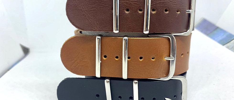 Trio of Faux Leather Nato Straps