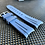 Thumbnail: 20mm Blue/Gray Vulcanized Rubber strap for Rolex