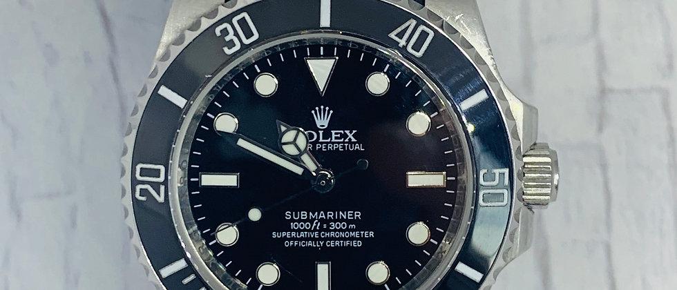 20mm Black Vulcanized Rolex Rubber Strap - Submariner, GMT, Explorer I