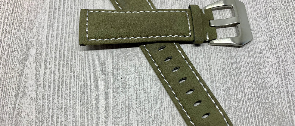 4 Pack of Suede Leather Straps in Tan, Black, Olive & Mocha