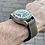 Thumbnail: Waterproof Olive GREEN top grain leather & rubber base