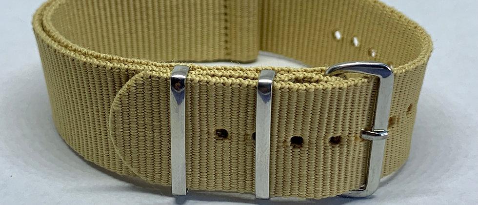 24mm Tan / Beige NATO / ZULU Straps - Nylon