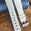 Thumbnail: 22mm WHITE Vulcanized Rubber strap WHITE stripe