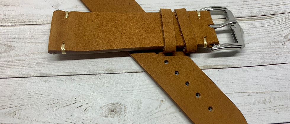 Light Brown Vintage Leather - Hand Made