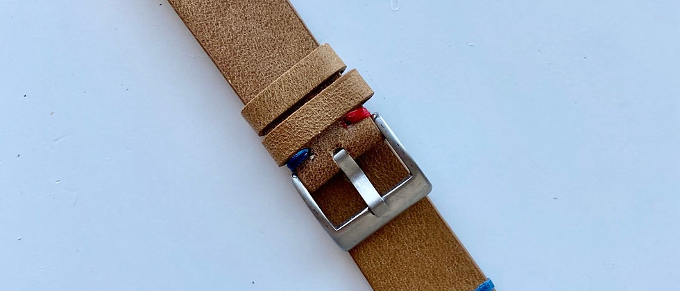CAMEL TAN Crazy Horse leather GMT strap