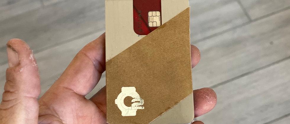 Modern Minimalistic Steel & Leather front pocket wallet